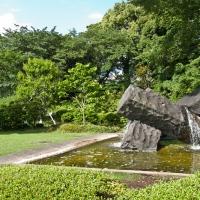 Fontaine en pierre au palais impérial