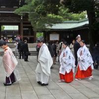 Procession de moines au Meiji-jingū