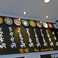 Tableau des prix par assiette au sushi-bar