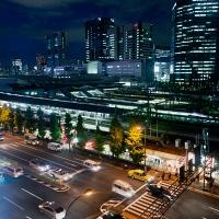 Vue de Shinagawa depuis la chambre d'hôtel