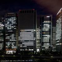 Vue du building Canon Shinagawa depuis la chambre d'hôtel