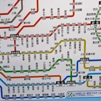 Carte des tarifs de train à Tokyo selon la distance parcourue