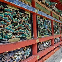 Détail de sculptures au sanctuaire Tōshō-gū à Nikkō