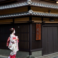 Une geisha à Gion, Kyoto