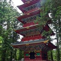Pagode à l'entrée du sanctuaire Tōshō-gū à Nikkō