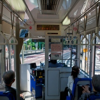 Dans le tramway de la ligne Arakawa