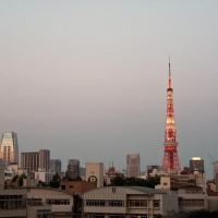 Vue de la tour de Tokyo depuis Roppongi