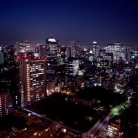 Vue panoramique au premier observatoire de la Tour de Tokyo
