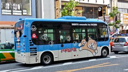 Un bus dans le quartier de Shibuya, à Tokyo