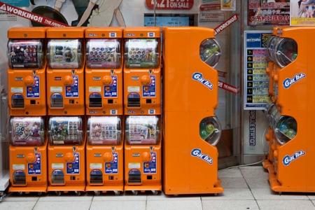 Machines gacha à Akihabara